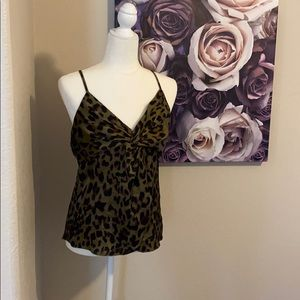 Leopard Twist Front Camisole Top NWT